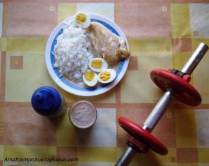 Vigorexia. Dieta proteica y ejercicio